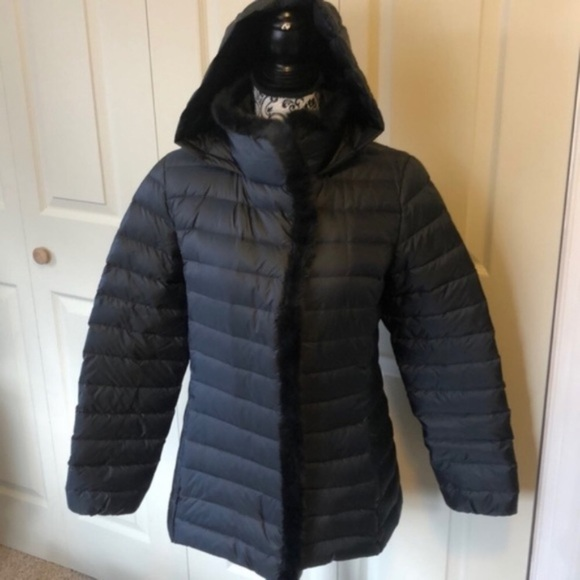 Cole Haan Signature Black Feather Down Puffer M